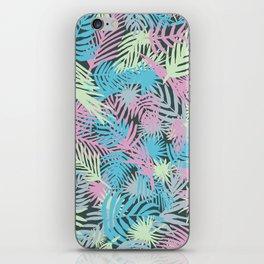 Pastel palms iPhone Skin