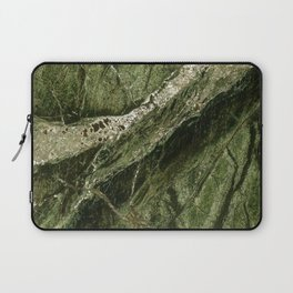 Marble Rain Forest Green Laptop Sleeve