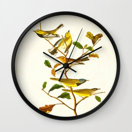 Birds & Plants Wall Clock