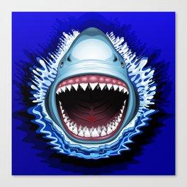 Shark Jaws Attack Canvas Print
