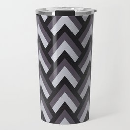 Mid Century Modern Triangles (Charcoal) Travel Mug