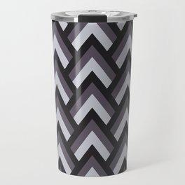 Mid Century Modern Triangles (Charcoal) Travel Mug