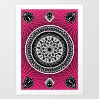 Pink punk Art Print
