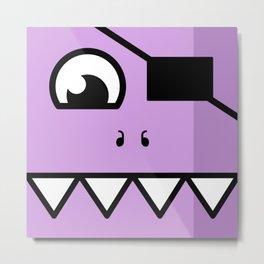 Monsters⁴ : Purple Metal Print