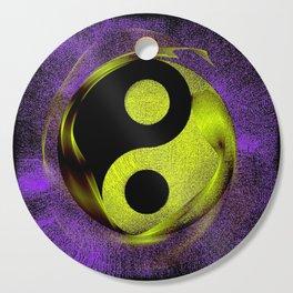 yin yang Ensō zen buddhism purple anise Cutting Board