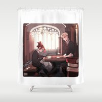 library Shower Curtains featuring Library by Galaxyspeaking