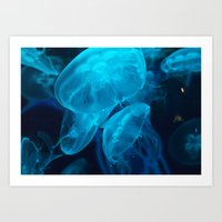 jelly fish Art Prints featuring Jelly Fish by Robert Payton