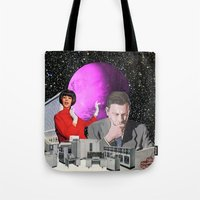 computer Tote Bags featuring Computer Life by TRASH RIOT