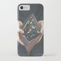 wallet iPhone & iPod Cases featuring space nebula by marzesu collages