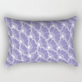 Hand-Drawn Summer Flowers: Purple Rectangular Pillow