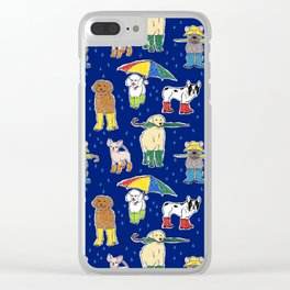 It's Raining Dogs + Dogs Clear iPhone Case