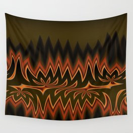 Fractal Tribal Art in Autumn Wall Tapestry