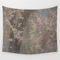 leah flores Wall Tapestries featuring Flores de cereza by Anne Seltmann