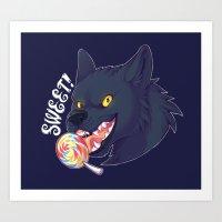 Sweet Wolf Art Print