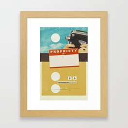 YOUR NAME HERE   Collage Framed Art Print
