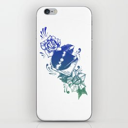 Records On Repeat - Blue Palette iPhone Skin