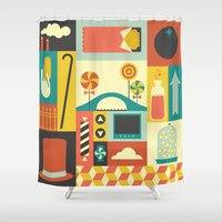 charlie brown Shower Curtains featuring Charlie by Ariel Wilson