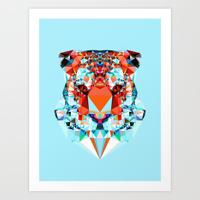 Discover the motif GEOMETRIC TIGER by Andreas Lie as a print at TOPPOSTER