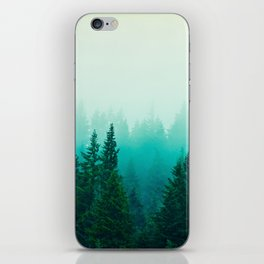 Fog Foggy Samish Forest Woods Mountain Northwest Washington Landscape iPhone Skin