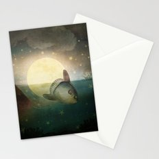 The Fish That Stole The Moon Stationery Cards