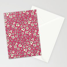 garland flowers pink Stationery Cards