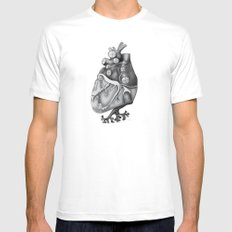 Transplantation I MEDIUM White Mens Fitted Tee