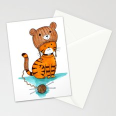 Knitted Bear Hat. Stationery Cards