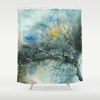 lake Shower Curtains featuring Lake by Iris V.