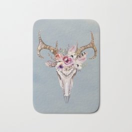 Deer Skull 2 Bath Mat