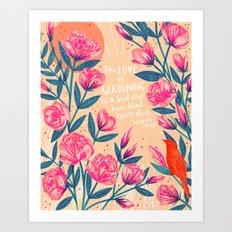 A Love of Gardening Art Print
