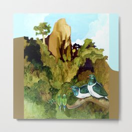 Love Under The Mountain Metal Print