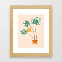 SoCal Palms Framed Art Print