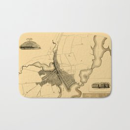 Map Of Providence 1823 Bath Mat