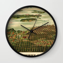Sandusky 1898 Wall Clock