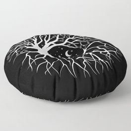 Tree of life, circular continuity Floor Pillow