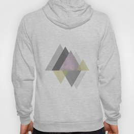 To the Mountains I Must Go, Abstract Geometric Art Hoody