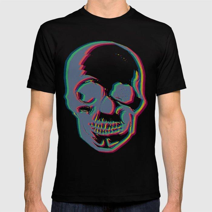 Skull - Woodprint Color T-shirt