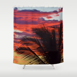 pomegranate sunset Shower Curtain
