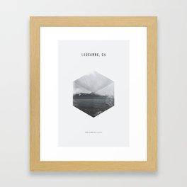 Minimalist Travel Poster - Lausanne, Switzerland Framed Art Print