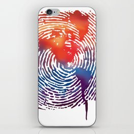 global map finger print iPhone Skin