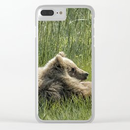Drifting Off - Bear Cubs, No. 7 Clear iPhone Case
