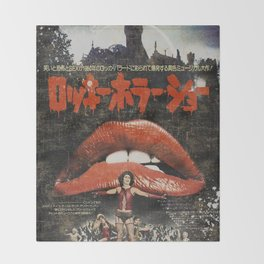 Rocky Horror poster Throw Blanket