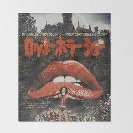 Rocky Horror poster Throw Blanket