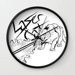 Laser Cat Wall Clock