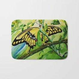 Lime Tree Butterfly II Bath Mat