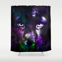panther Shower Curtains featuring Panther by haroulita