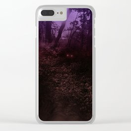 There's Something Out There Clear iPhone Case
