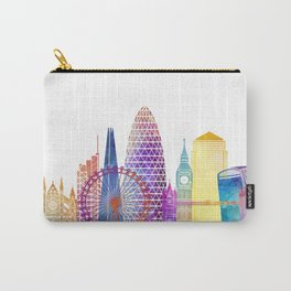 London landmarks watercolor poster Carry-All Pouch