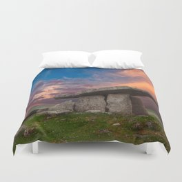 Poulnabrone Dolmen Sunset Duvet Cover