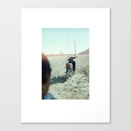 We Didn't Take the Motorcycle  Canvas Print